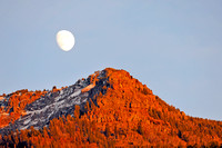 Moon Over Red Mountain